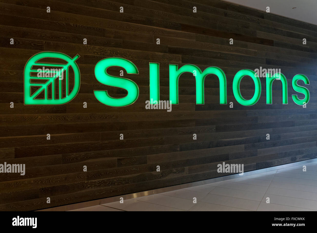 Simons Clothing And Home Decor Store In The Park Royal Shopping Centre,  West Vancouver, British Columbia, Canada