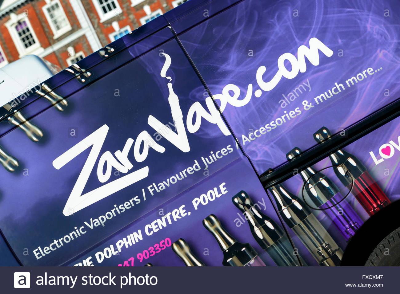 Zaravape delivery van, Blandford, Dorset, England, UK - Stock Image