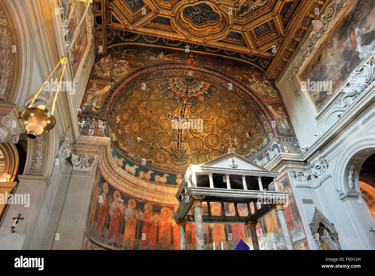 italy, rome, basilica di san clemente Stock Photo