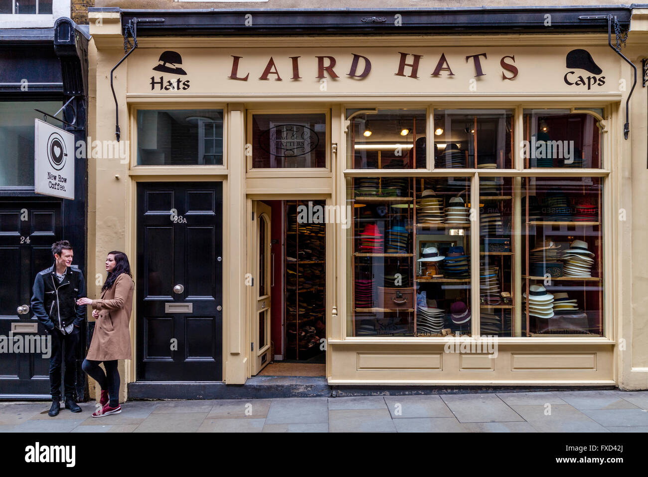 Laird Hat Shop, New Row, Covent Garden, London, UK - Stock Image