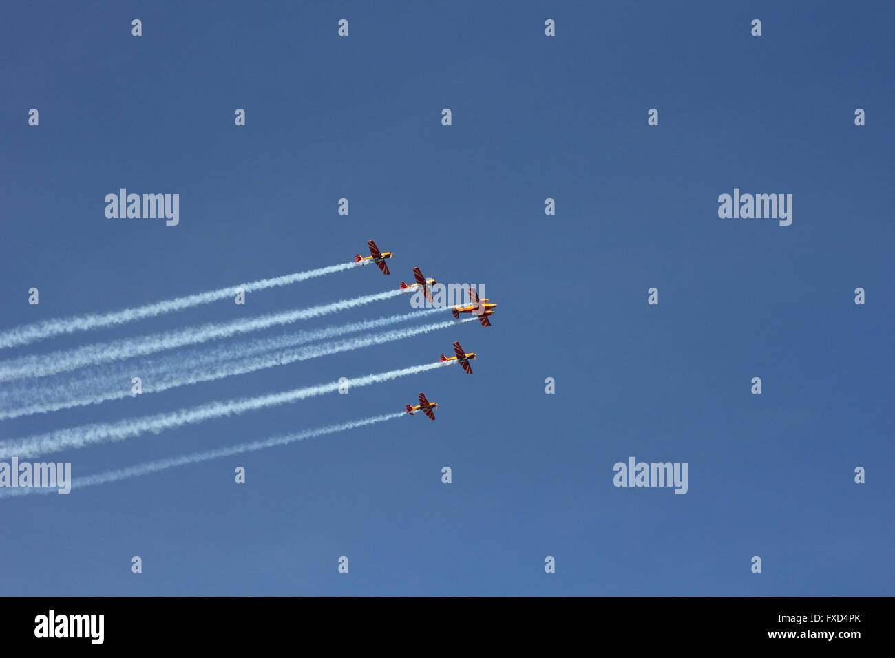 Five sporting aeroplanes photo - Stock Image