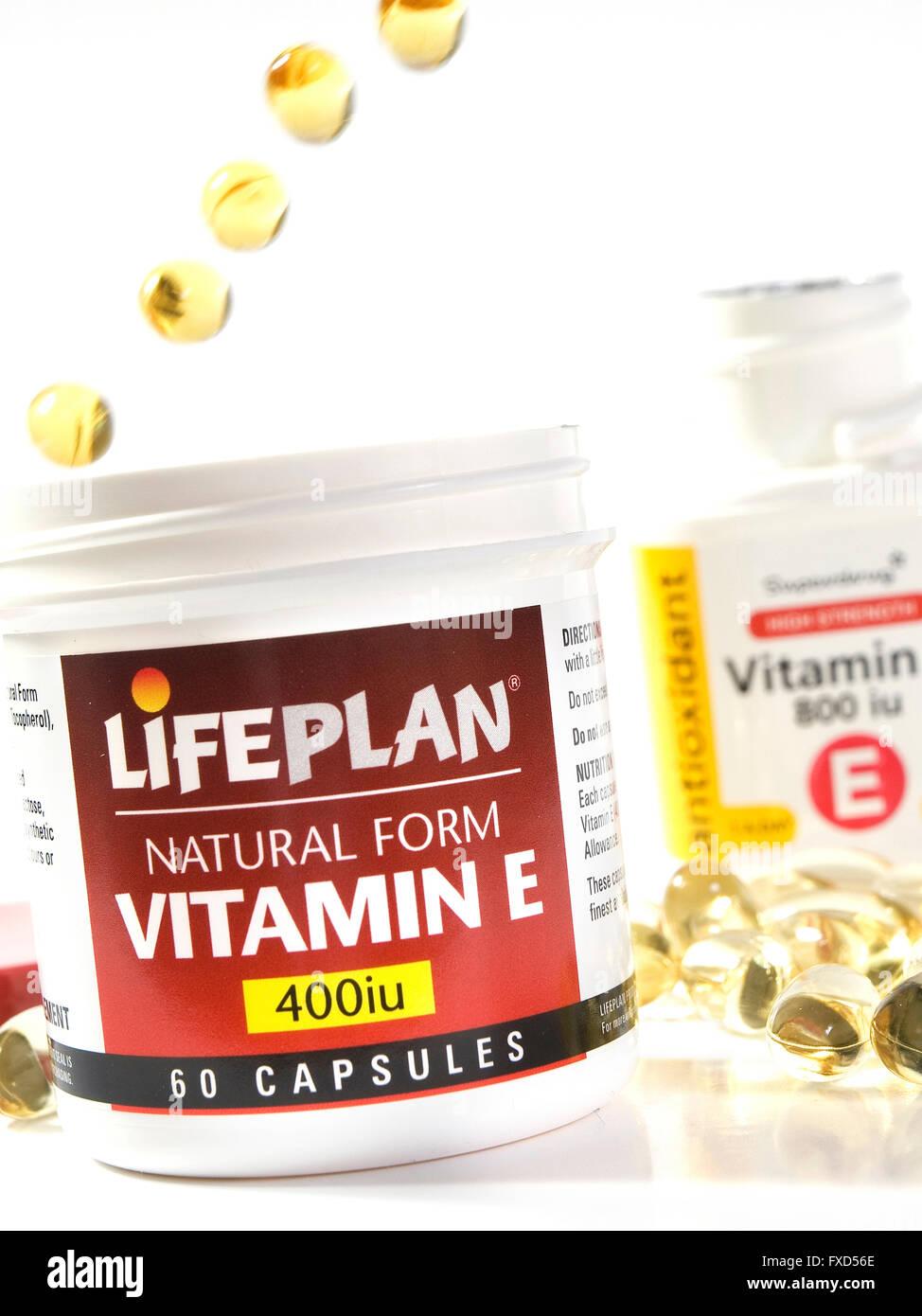 Vitamin E capsules - Stock Image