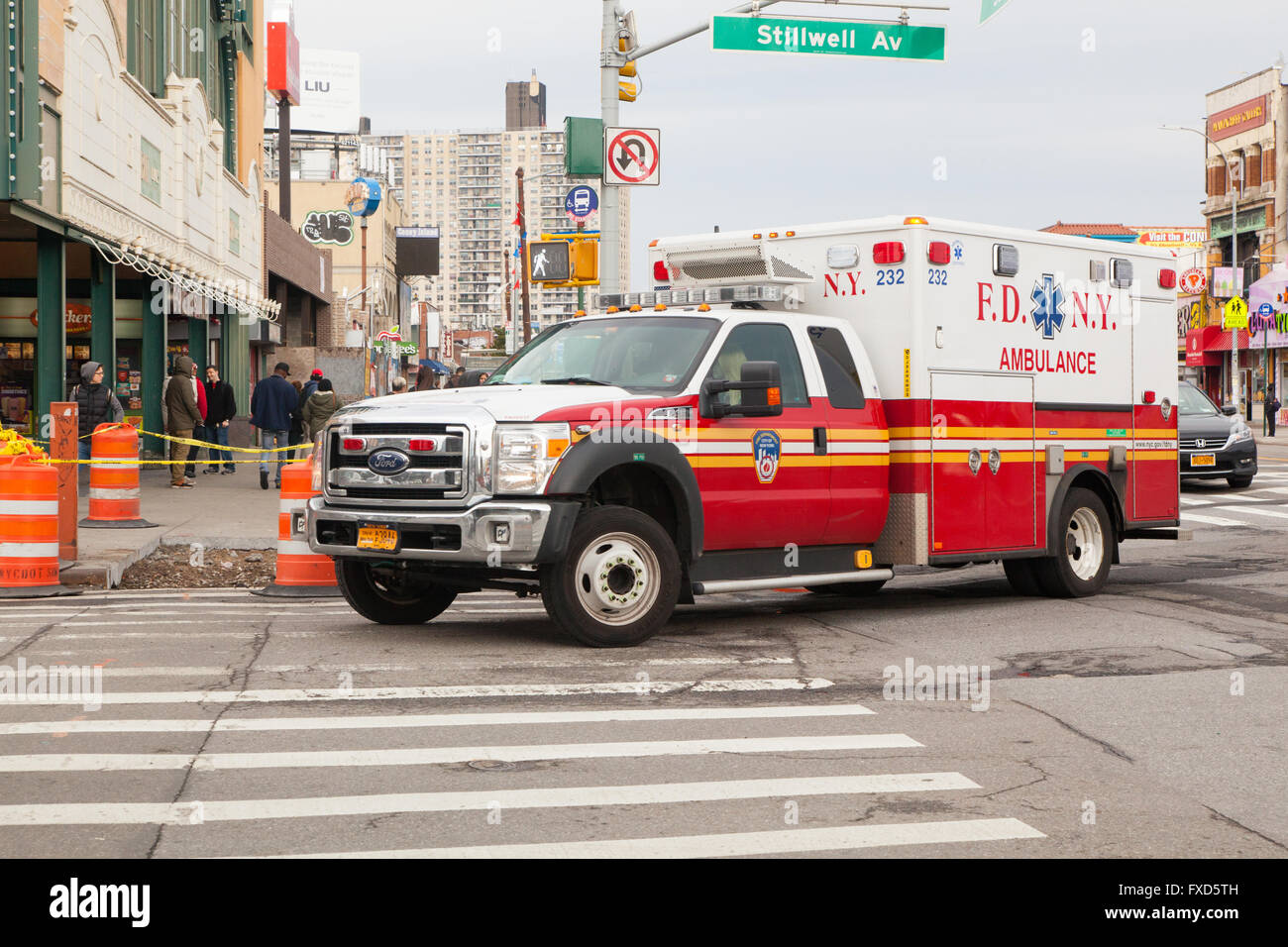 New york fire truck stock photos new york fire truck for Department of motor vehicles brooklyn ny