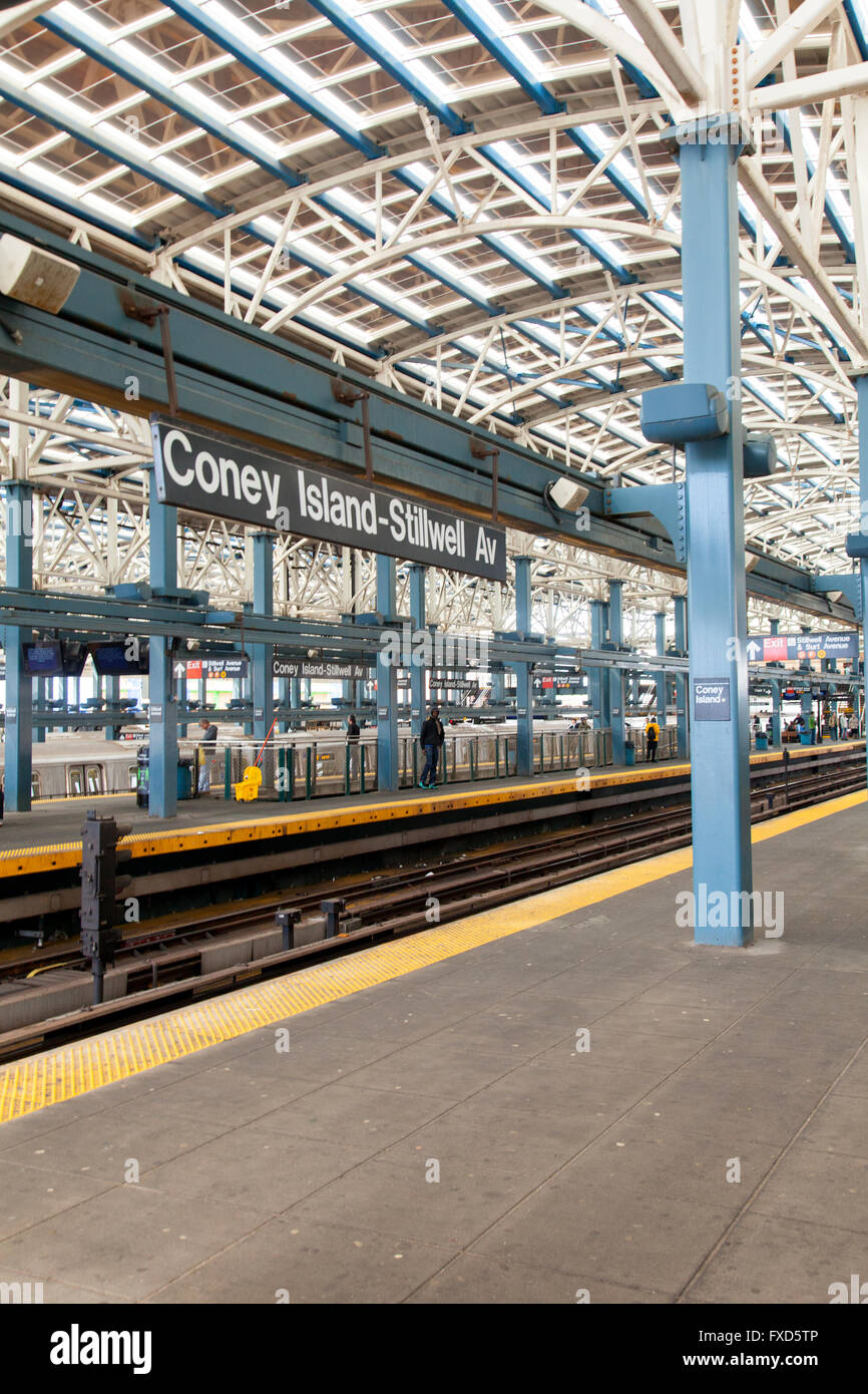 Coney Island- Stillwell Avenue train station, Brooklyn, New York, United States of America. Stock Photo