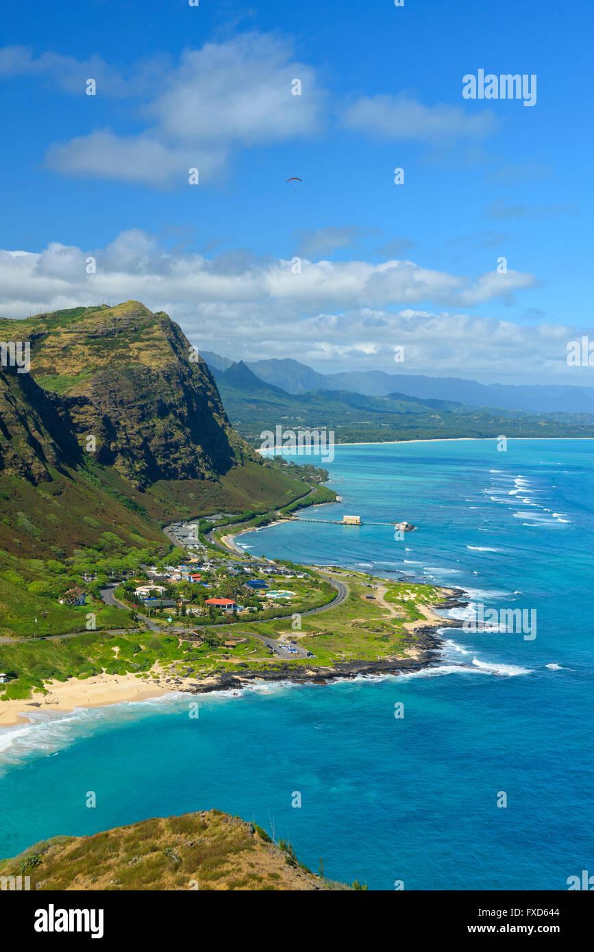 USA, Hawaii, Oahu, Honolulu, Akapuu Point state wayside - Stock Image