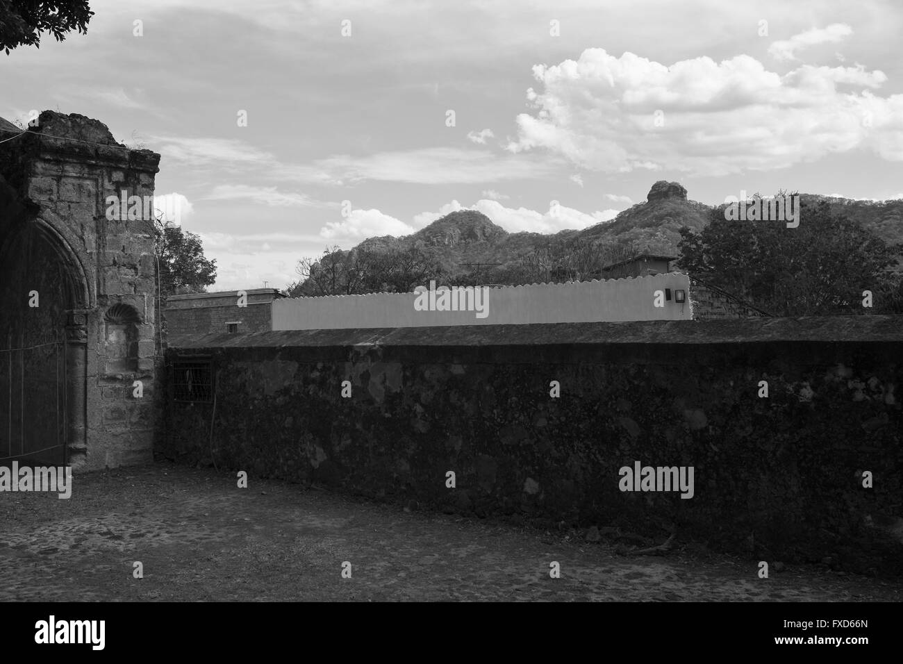 Tepoztlan ( and Tepozteco) Mexico - Stock Image