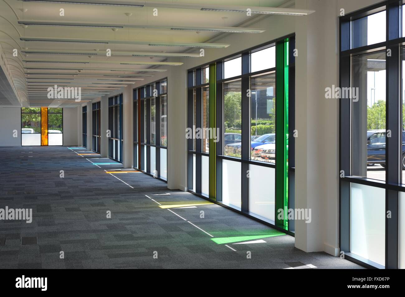 Vacant commercial interiors, office space - Stock Image