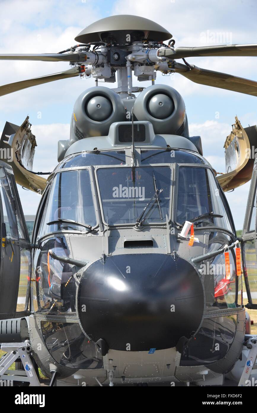 Front shot of Helicopter - Stock Image