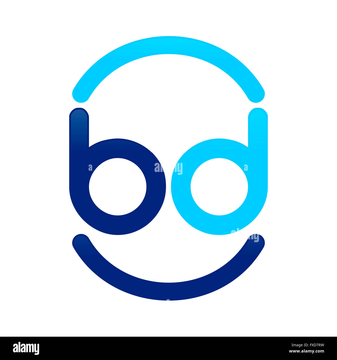 Initial BD Logo Design Stock Photo: 102324429