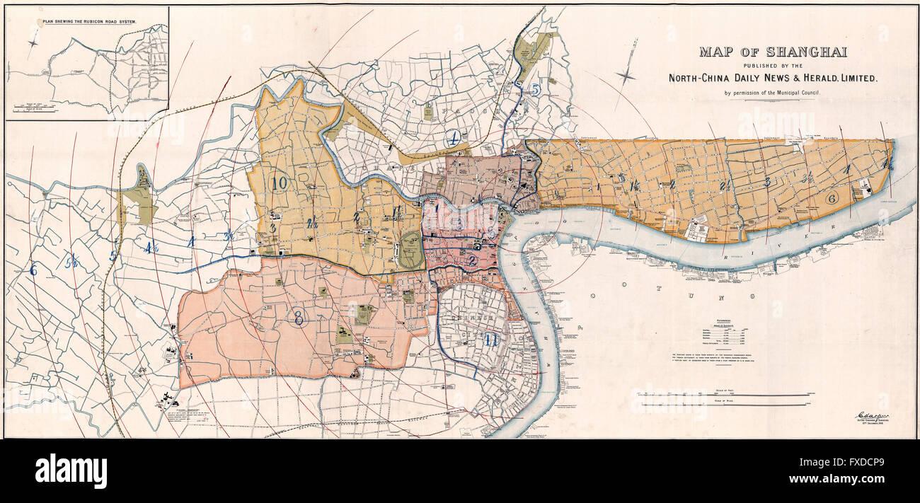 Map of Shanghai, China circa 1918 Stock Photo: 102328305 - Alamy Shanghai China Map on xinjiang china map, guangdong china map, dalian china map, manchuria map, seoul map, yantai china map, shanghai on map, jakarta map, xingang china map, japan map, china city map, delhi india map, east china map, wuxi china map, east asia map, nanning china map, nanchang china map, nanjing china map, calcutta map, jiangsu province china map,