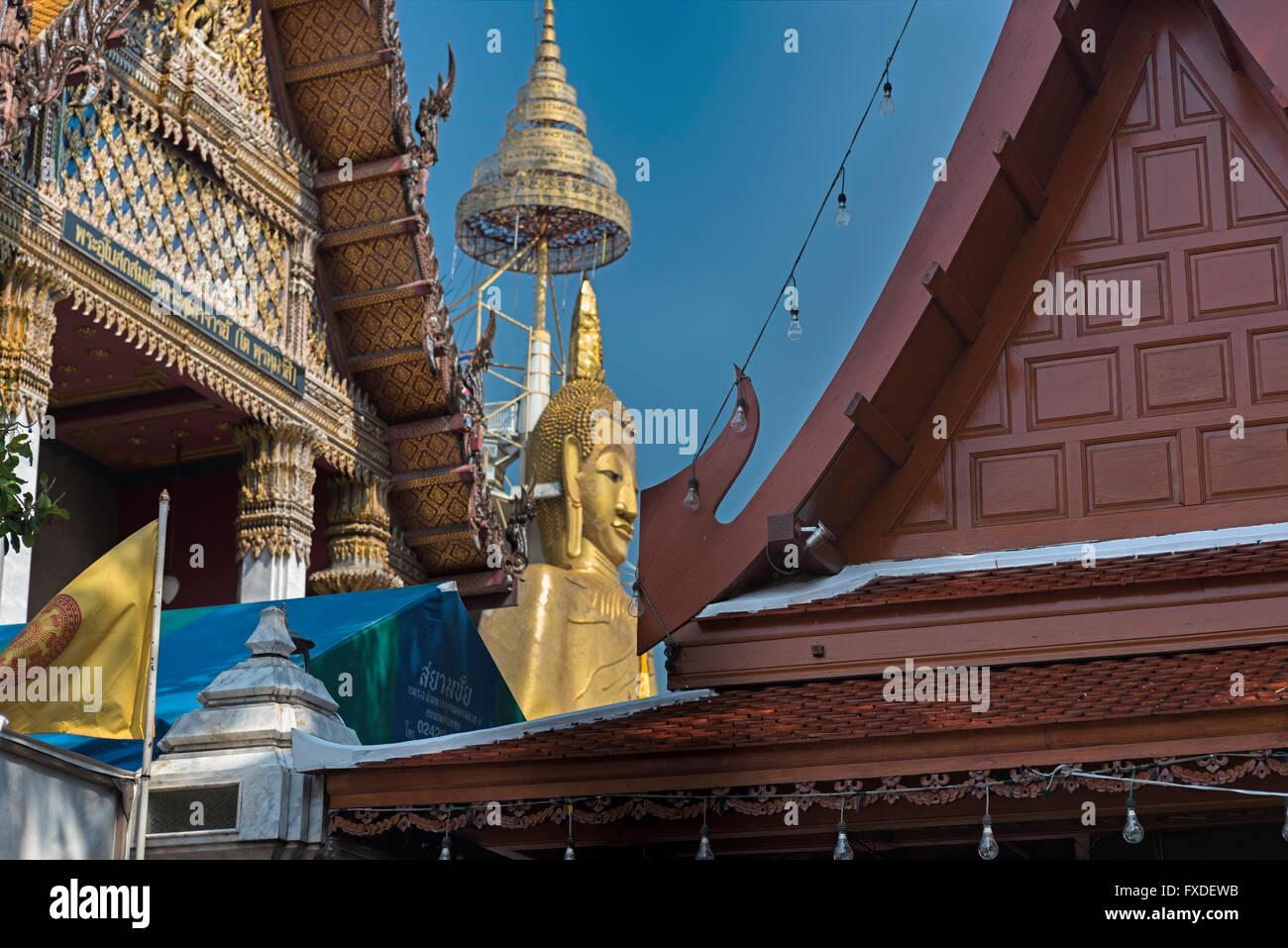 Wat Indraviharn Bangkok Thailand - Stock Image