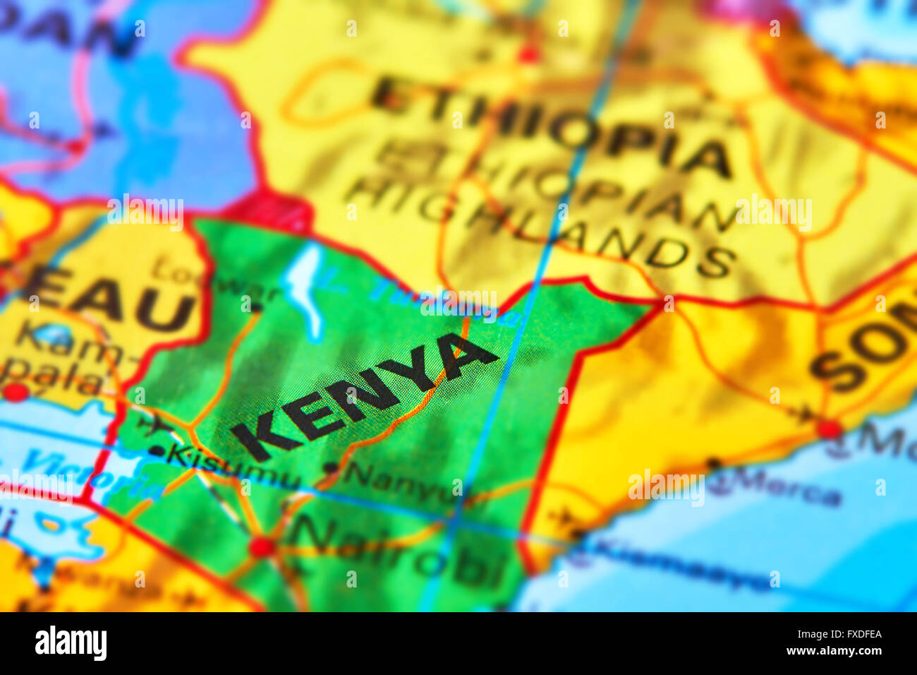 Kenya country in africa on the world map stock photo 102330434 alamy kenya country in africa on the world map gumiabroncs Image collections