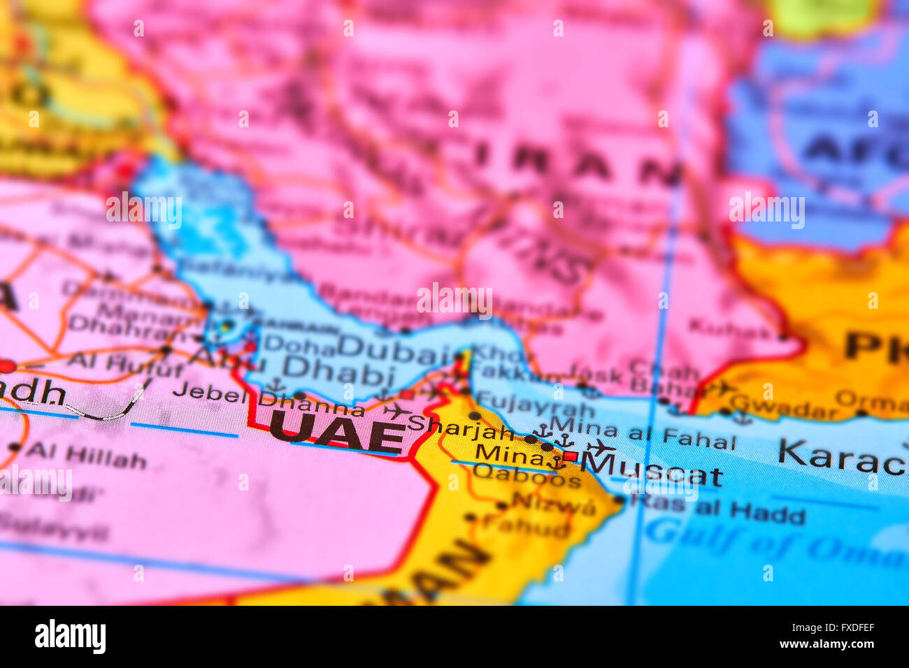 Picture of: United Arab Emirates Country In The Middle East On The World Map Stock Photo Alamy