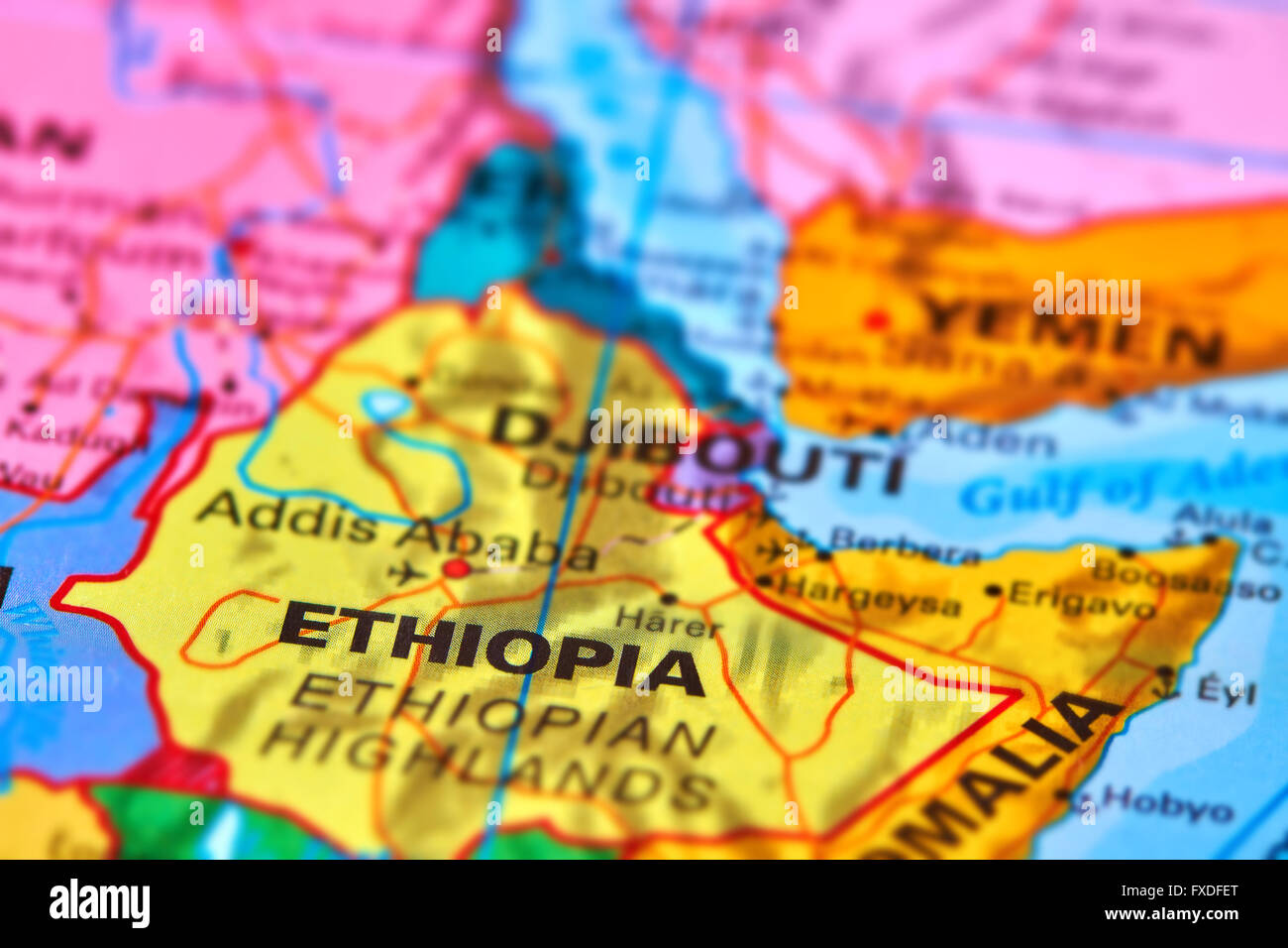 Ethiopia country in africa on the world map stock photo 102330448 ethiopia country in africa on the world map gumiabroncs Images