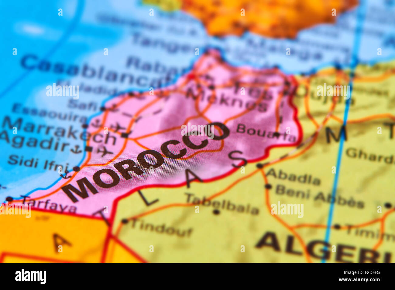Morocco Country In Africa On The World Map Stock Photo 102330468