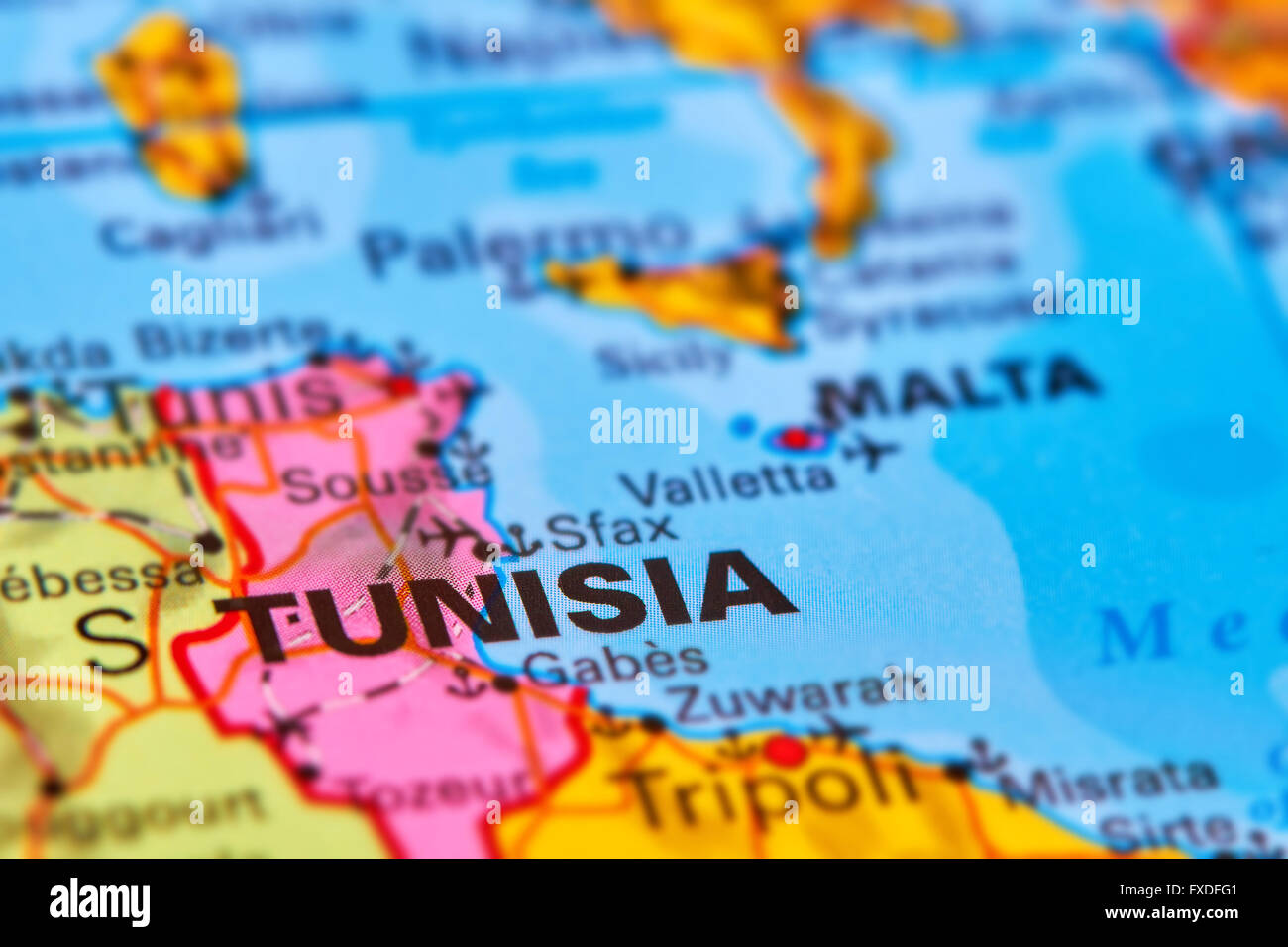 Image of: Tunisia Country In Africa On The World Map Stock Photo Alamy