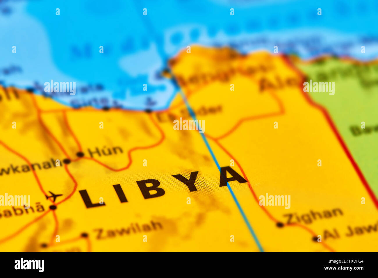 Libya country in africa on the world map stock photo 102330484 alamy libya country in africa on the world map gumiabroncs Images