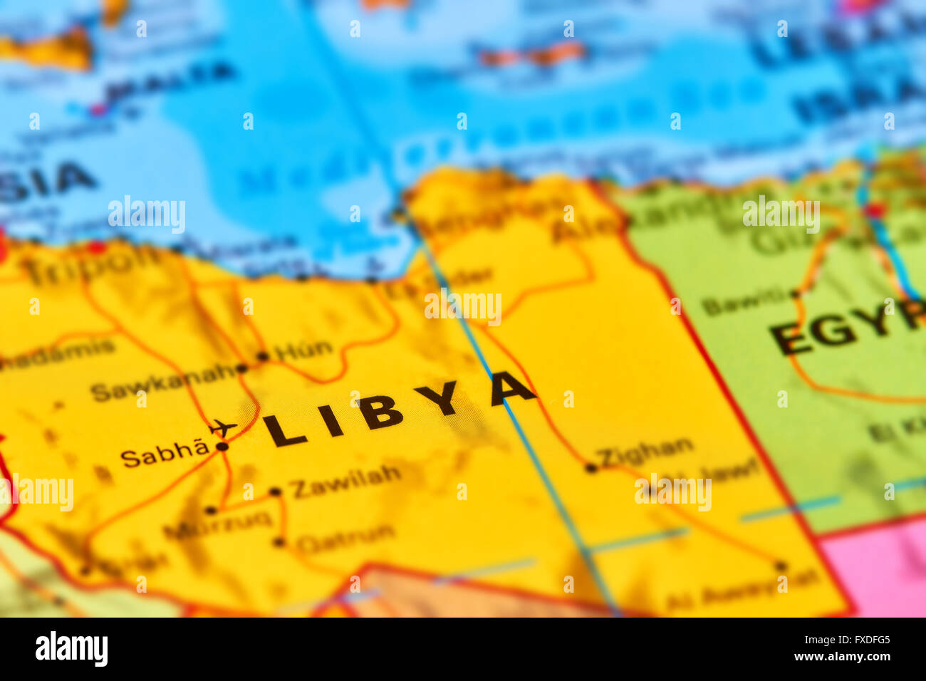 Libya Country In Africa On The World Map Stock Photo 102330485 Alamy