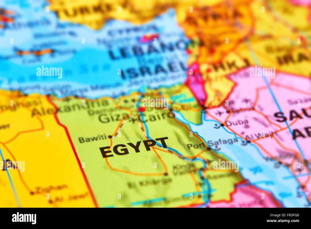 Egypt Country in Africa on the World Map Stock Photo ...