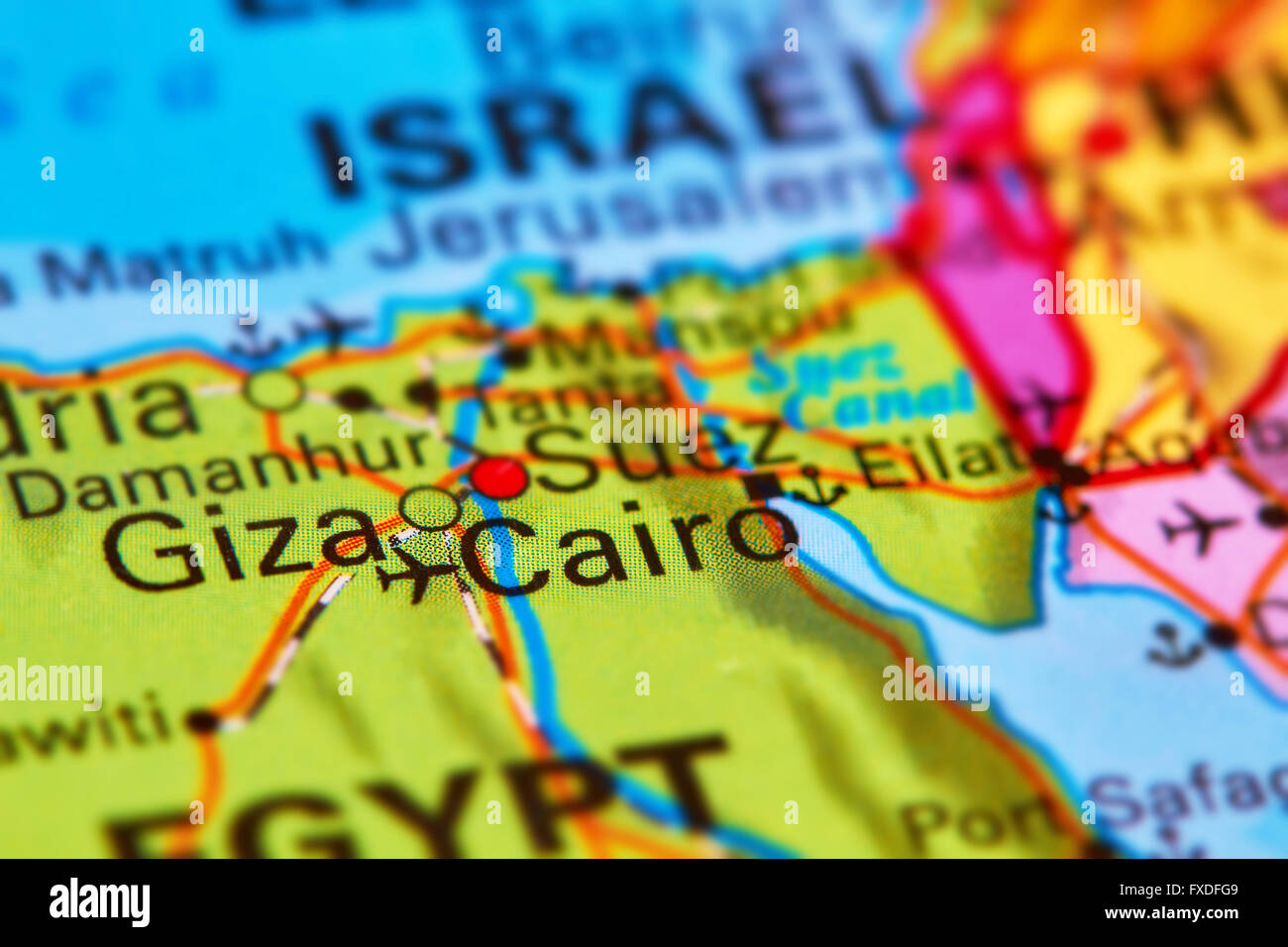 Image of: Cairo Capital City Of Egypt In Africa On The World Map Stock Photo Alamy