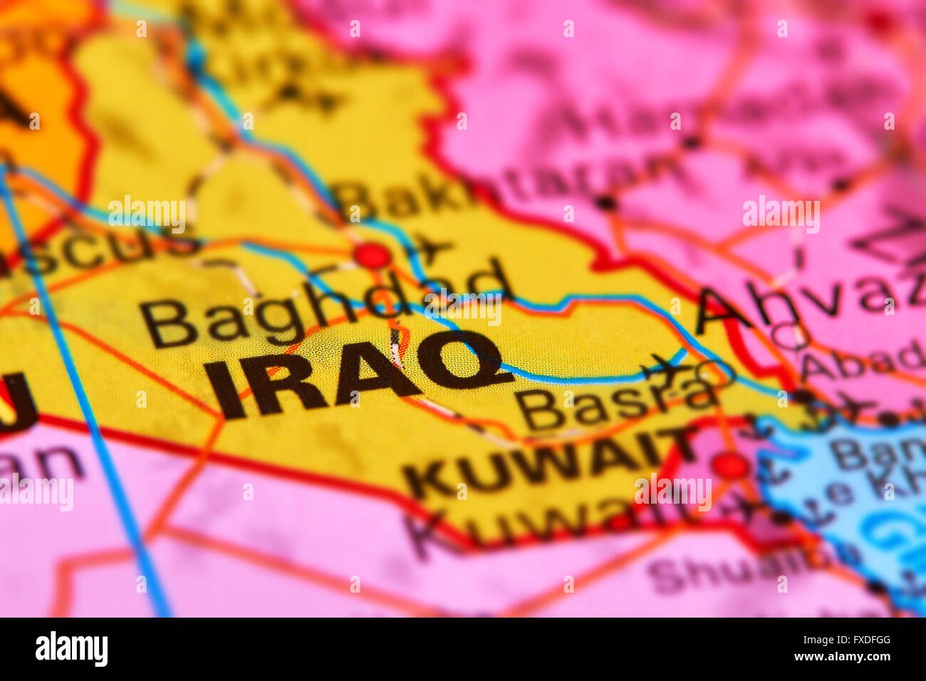 Iraq, Country in the Middle East on the World Map - Stock Image