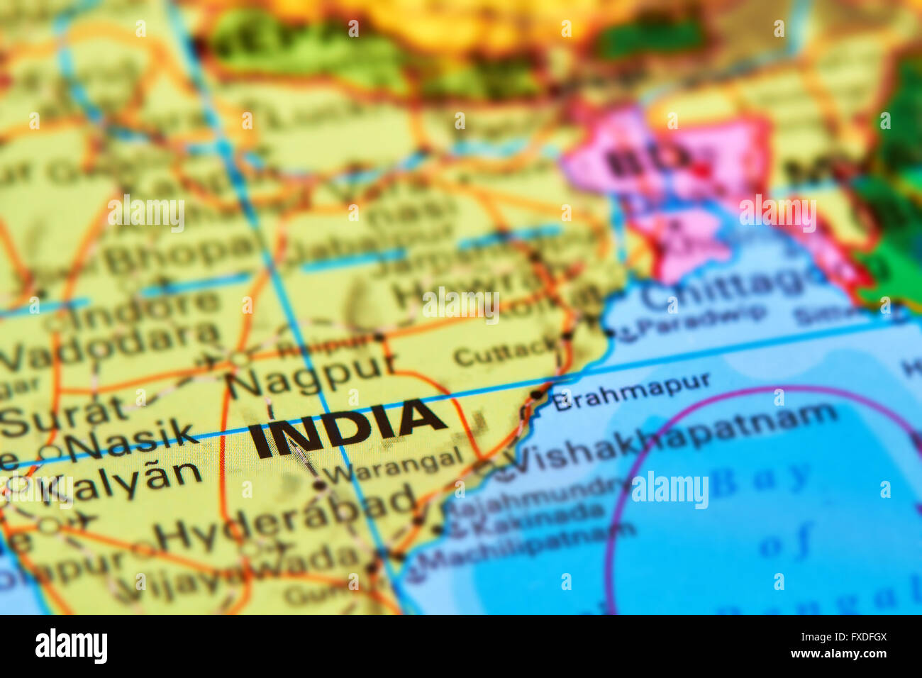 India country map stock photos india country map stock images alamy india large asian country on the world map stock image gumiabroncs Gallery