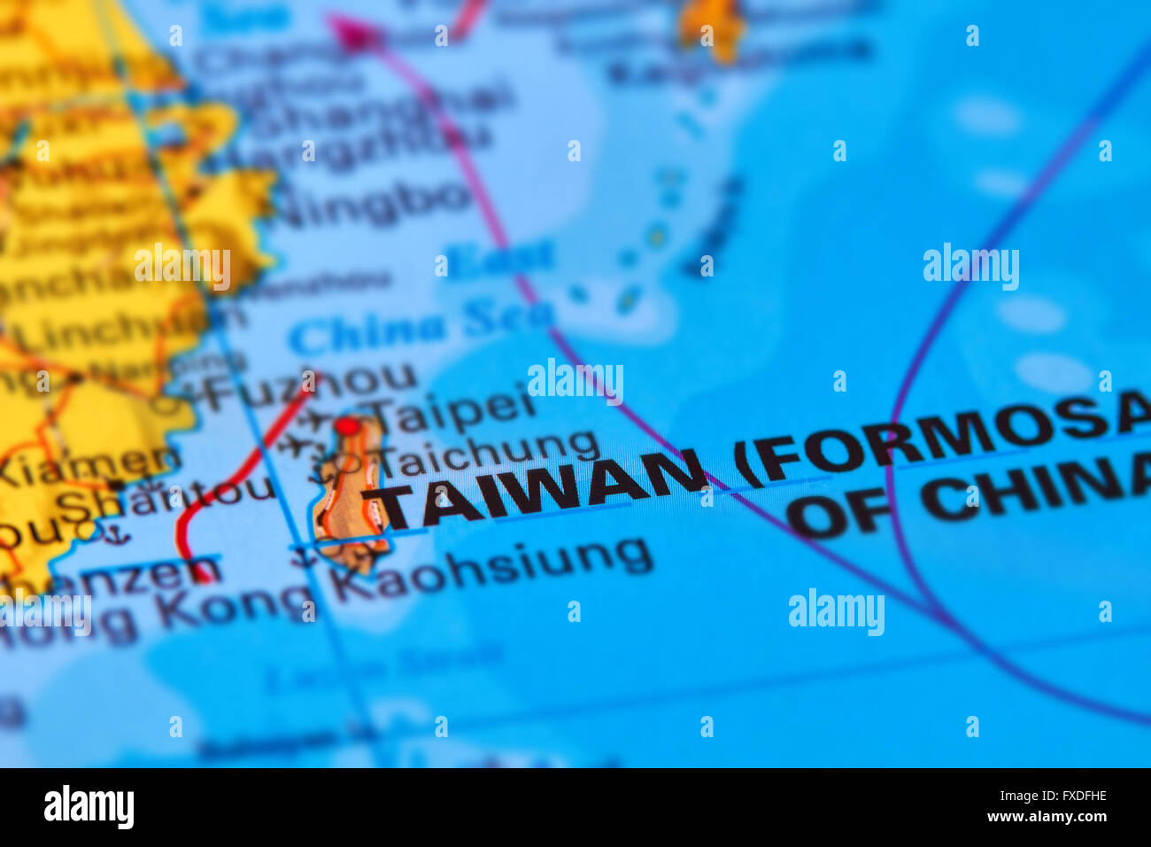 Taiwan Island Asian Country On The World Map Stock Photo 102330522