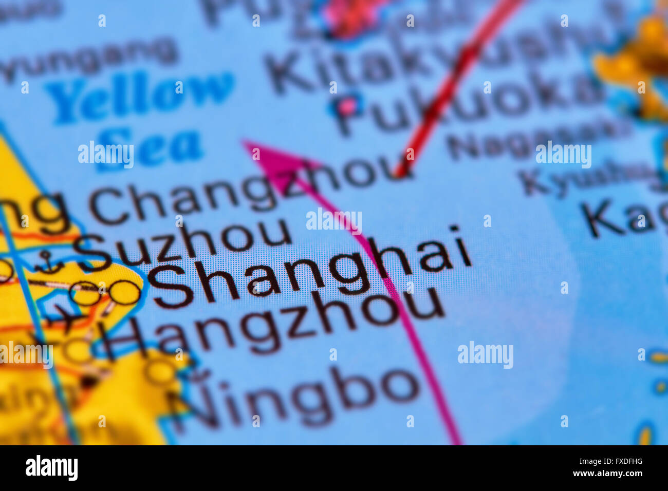 Shanghai, City in China on the World Map Stock Photo: 102330524 - Alamy