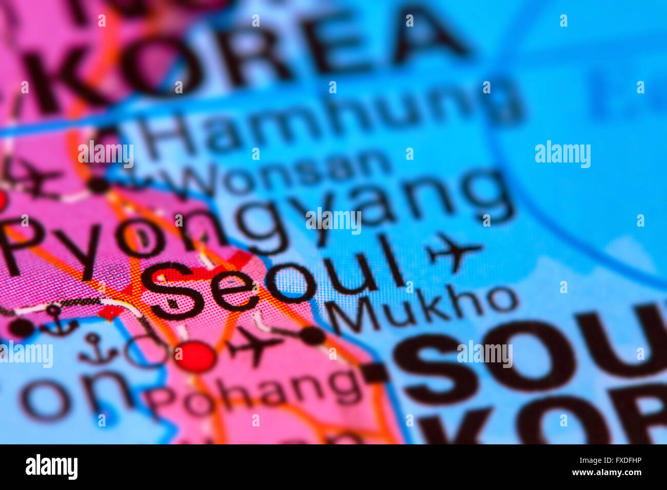 Seoul, Capital City of South Korea, Asian Country on the World Map ...