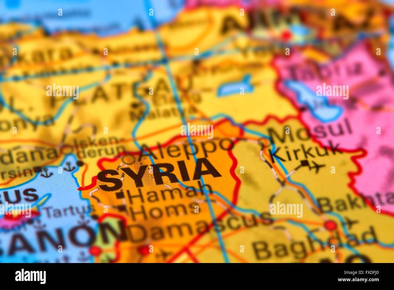 Syria Asian Country On The World Map Stock Photo 102330536 Alamy