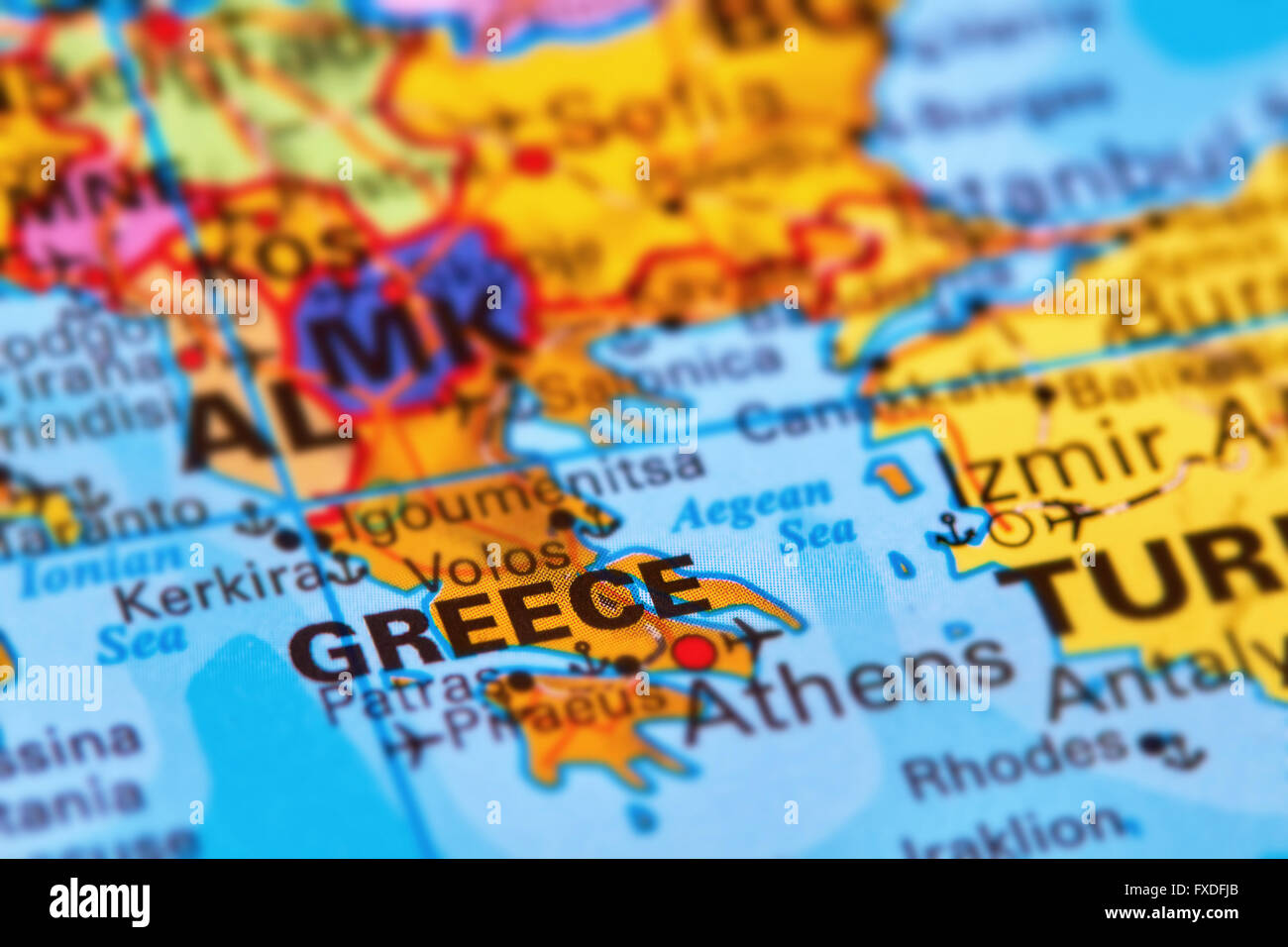 Country Of Greece Map.Greece Country In Europe On The World Map Stock Photo 102330547