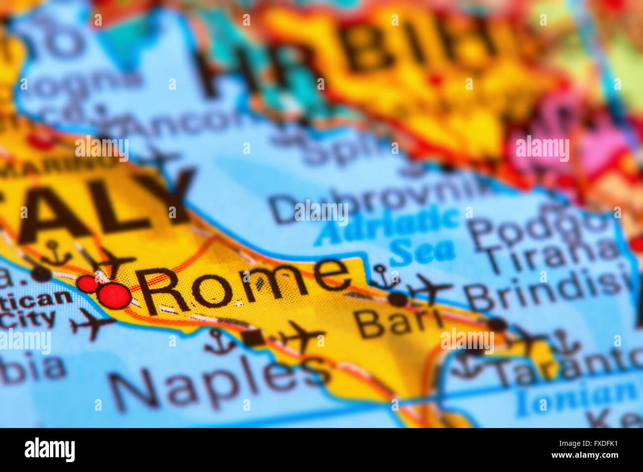 Rome Capital City Of Italy On The World Map Stock Photo 102330565