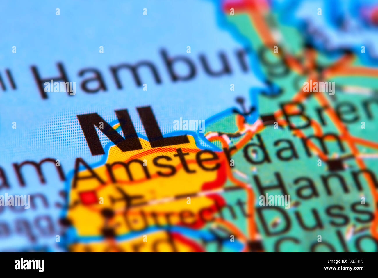 Holland country map stock photos holland country map stock images netherlands country in europe on the world map stock image gumiabroncs Gallery