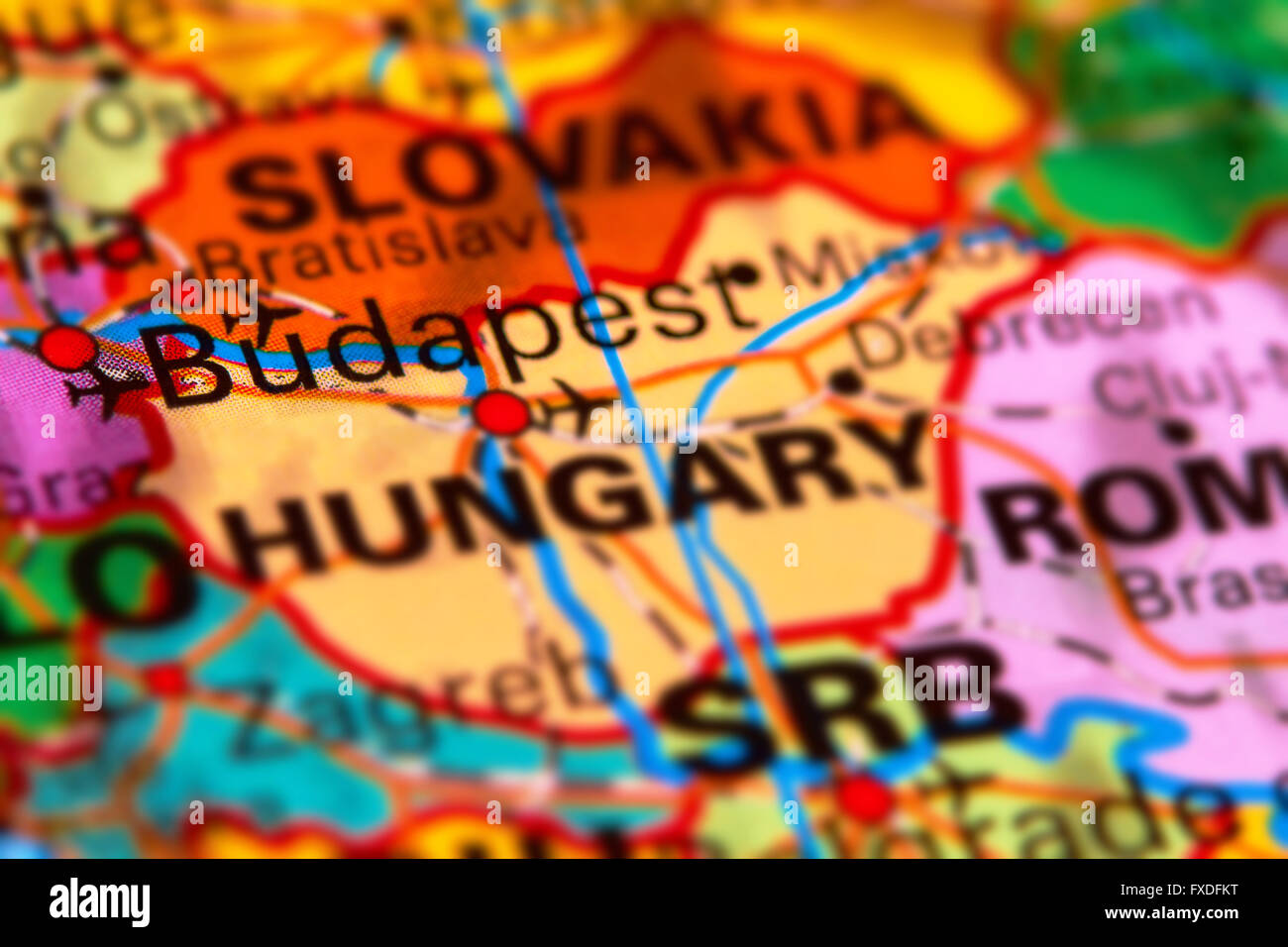 Budapest capital city of hungary on the world map stock photo budapest capital city of hungary on the world map gumiabroncs Images