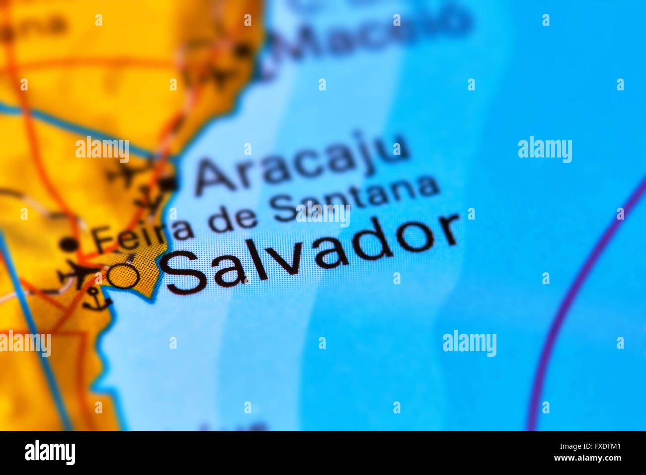 Salvador map stock photos salvador map stock images alamy salvador city in brazil on the world map stock image gumiabroncs Image collections