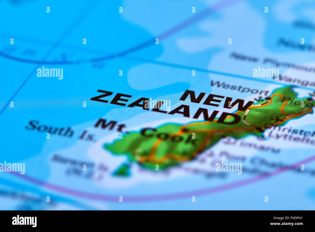 New zealand country on the world map stock photo 102330621 alamy new zealand country on the world map gumiabroncs Choice Image