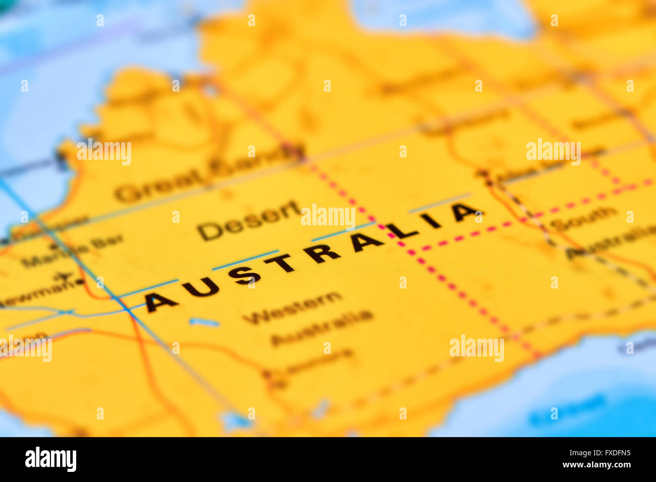 Australia continent and country on the world map stock photo australia continent and country on the world map gumiabroncs Images