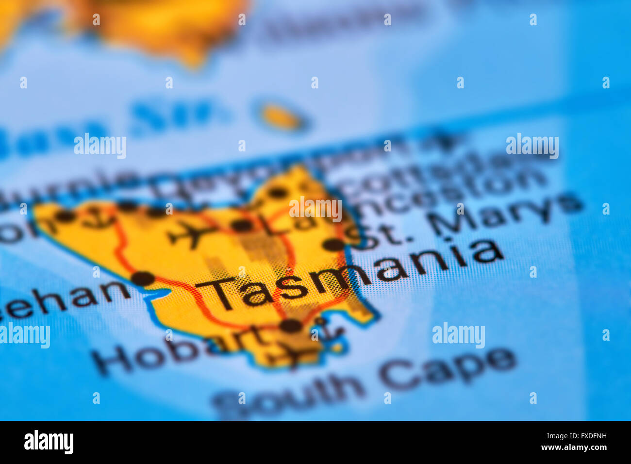 Tasmania Island In Australia On The World Map Stock Photo 102330637
