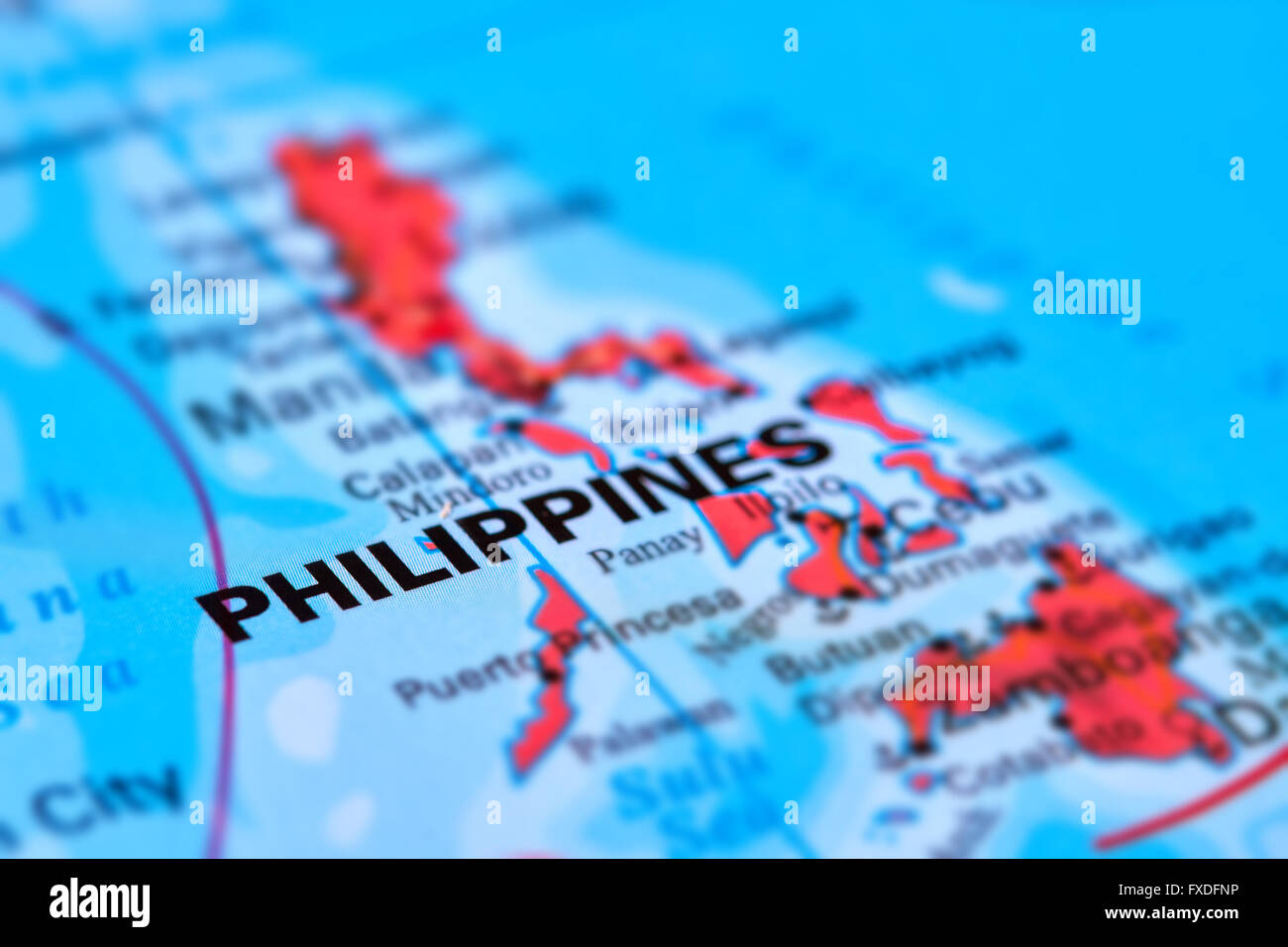 Philippines Islands World Map.Philippines Islands In Oceania On The World Map Stock Photo