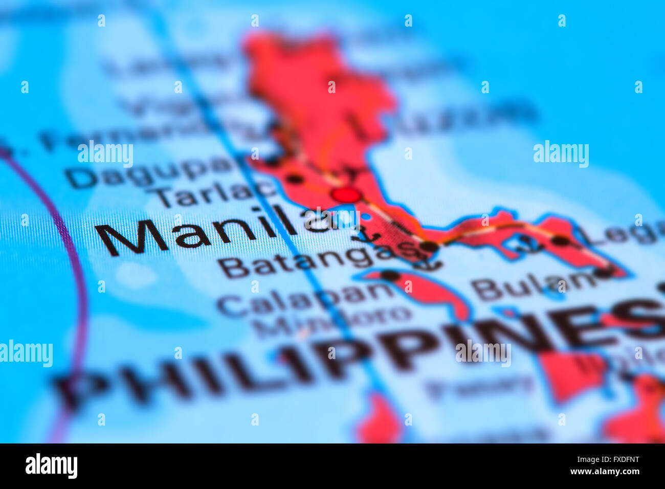 Manila Philippines World Map.Manila Capital City Of The Philippines On The World Map Stock Photo