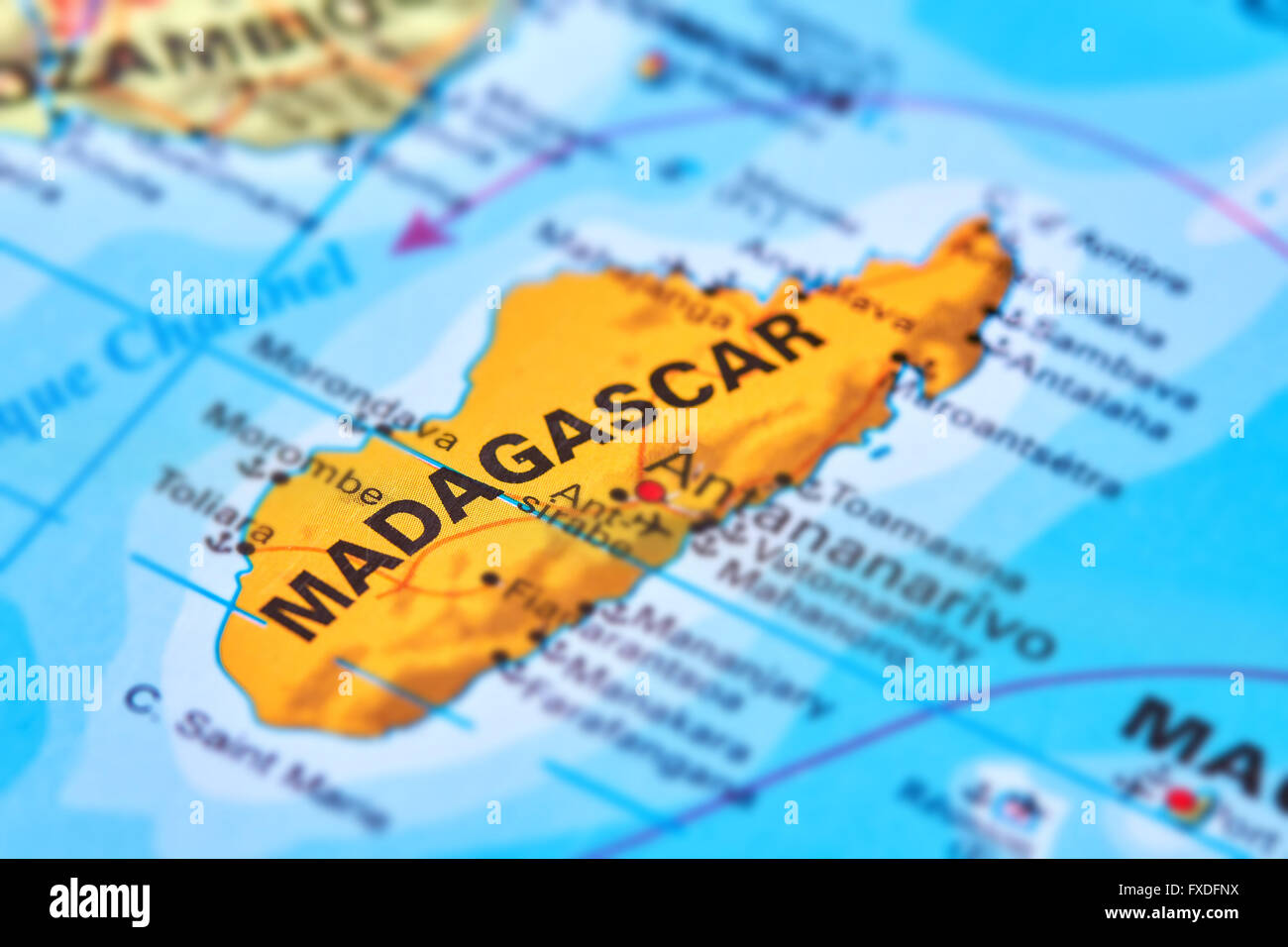 Madagascar island country on the world map stock photo 102330646 madagascar island country on the world map gumiabroncs Images