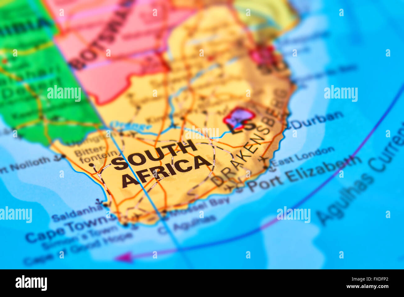 South africa country on the world map stock photo 102330650 alamy south africa country on the world map gumiabroncs Gallery