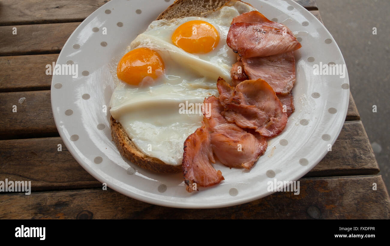 Eggs and bacon - Stock Image