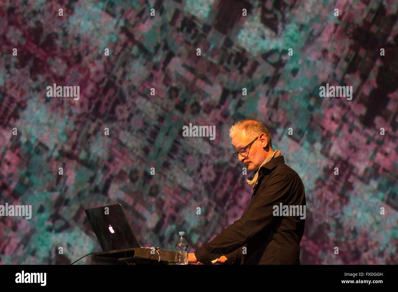 Arovane (German electronic music artist Uwe Zahn) in concert in Prague - Stock Image