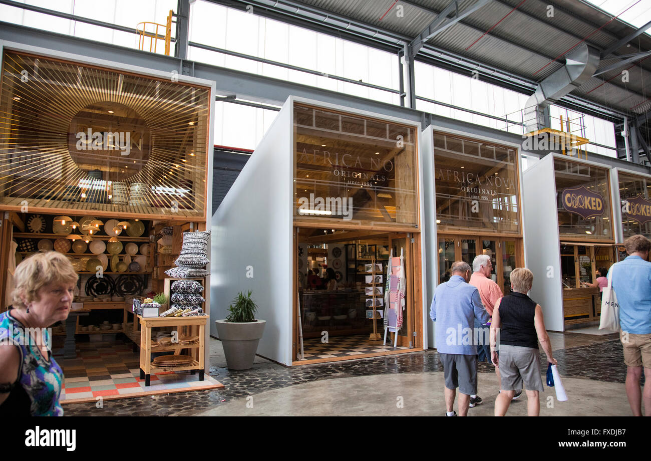 Watershed Market for Crafts and Design at V&A Waterfront in Cape Town - South Africa - Stock Image