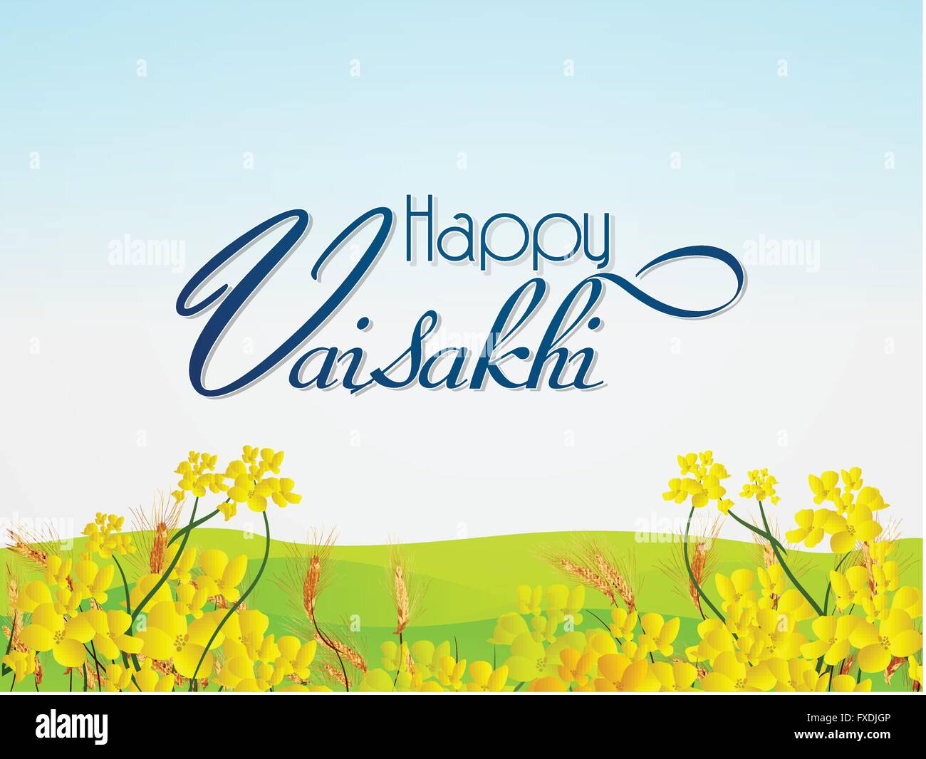 Happy Vaisakhi Abstract - Stock Vector