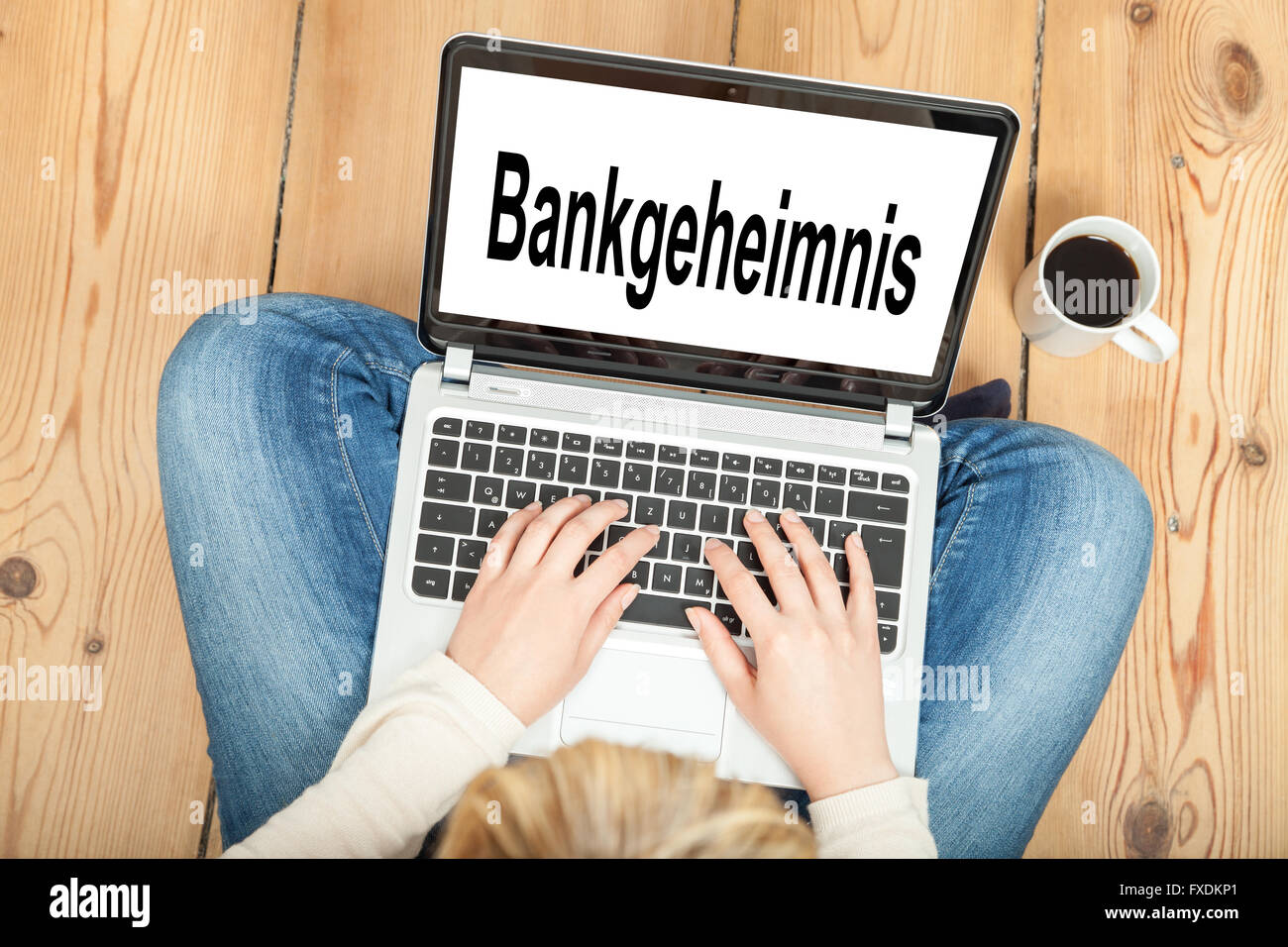 Bank secrecy - Stock Image