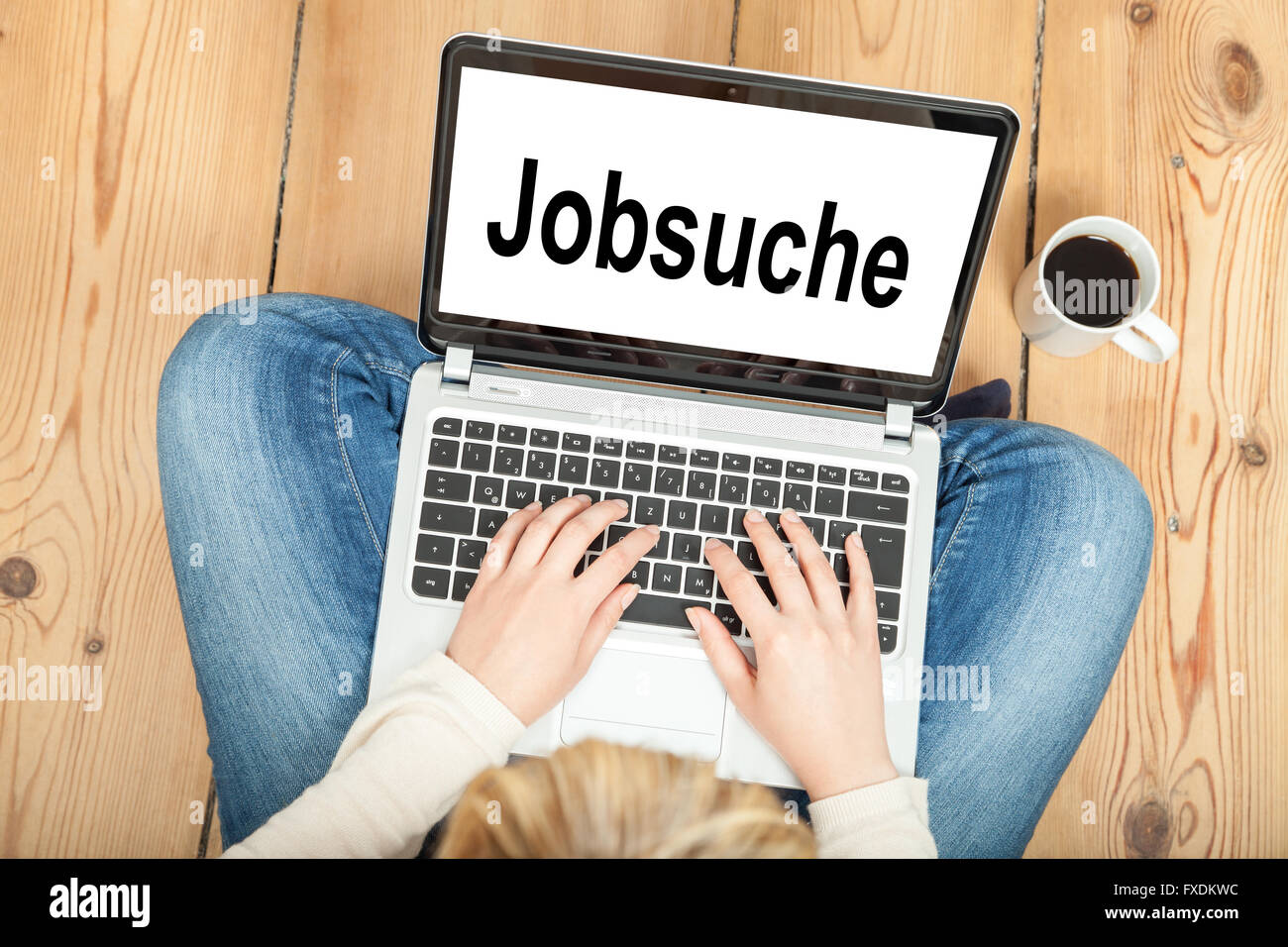 looking for a job (in german) - Stock Image