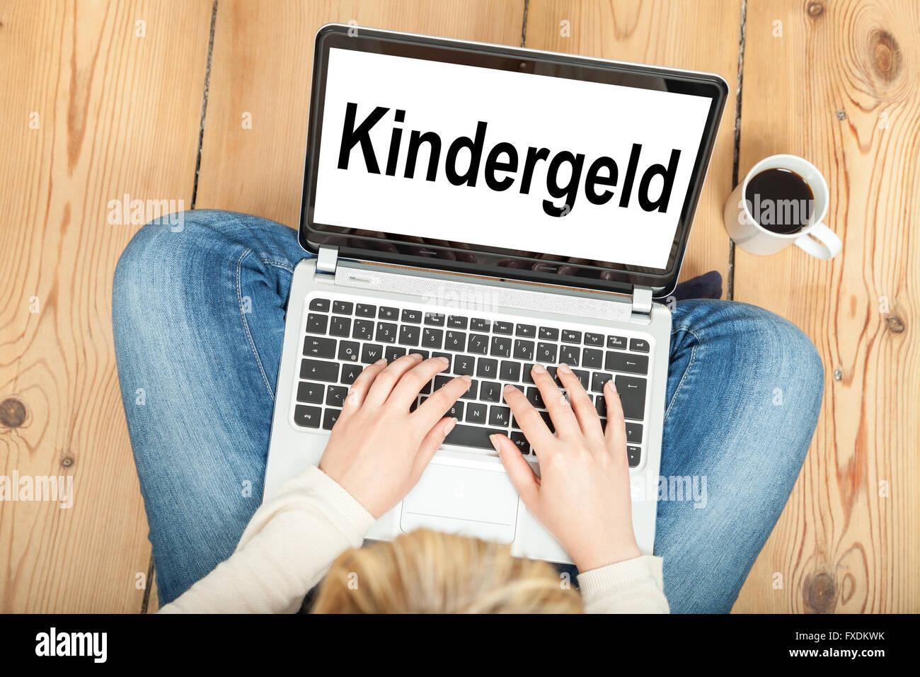 Child benefits - Stock Image