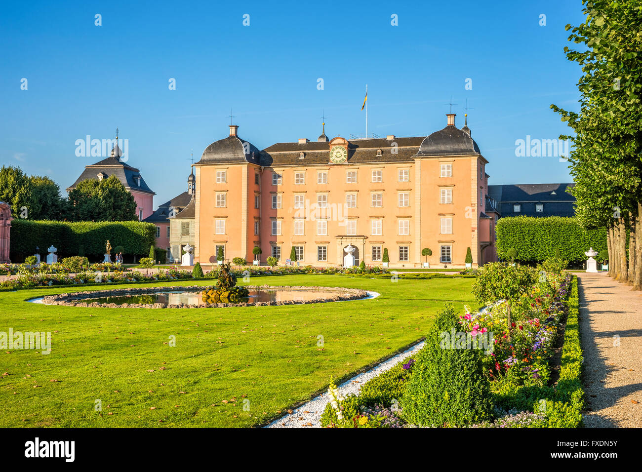 Palace, Schwetzingen, Baden-Wuerttemberg, Germany - Stock Image